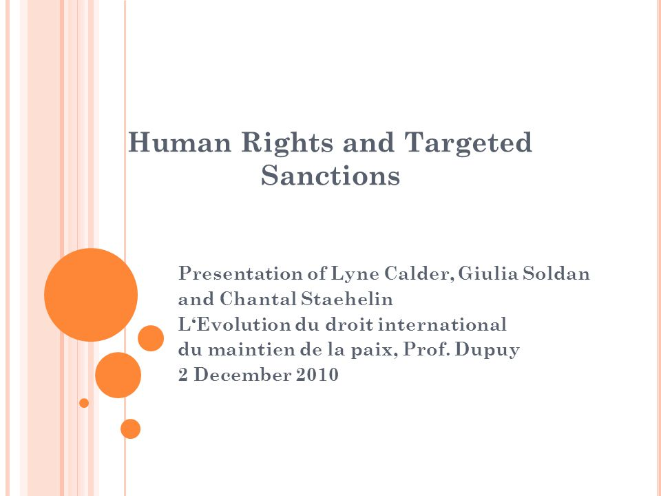 Human Rights and Targeted Sanctions