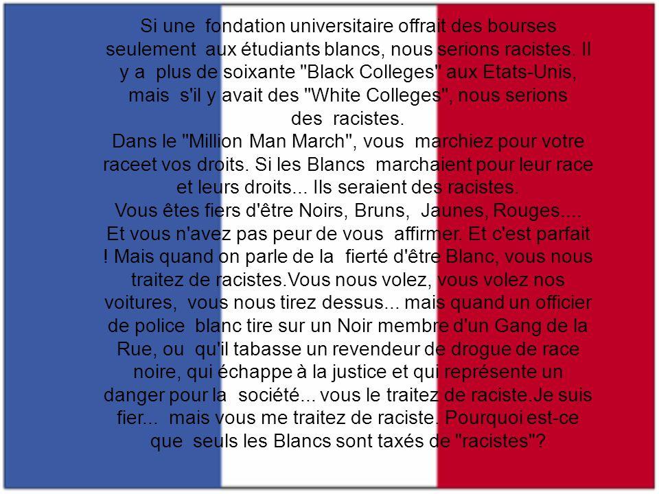 Si une fondation universitaire offrait des bourses seulement aux étudiants blancs, nous serions racistes.