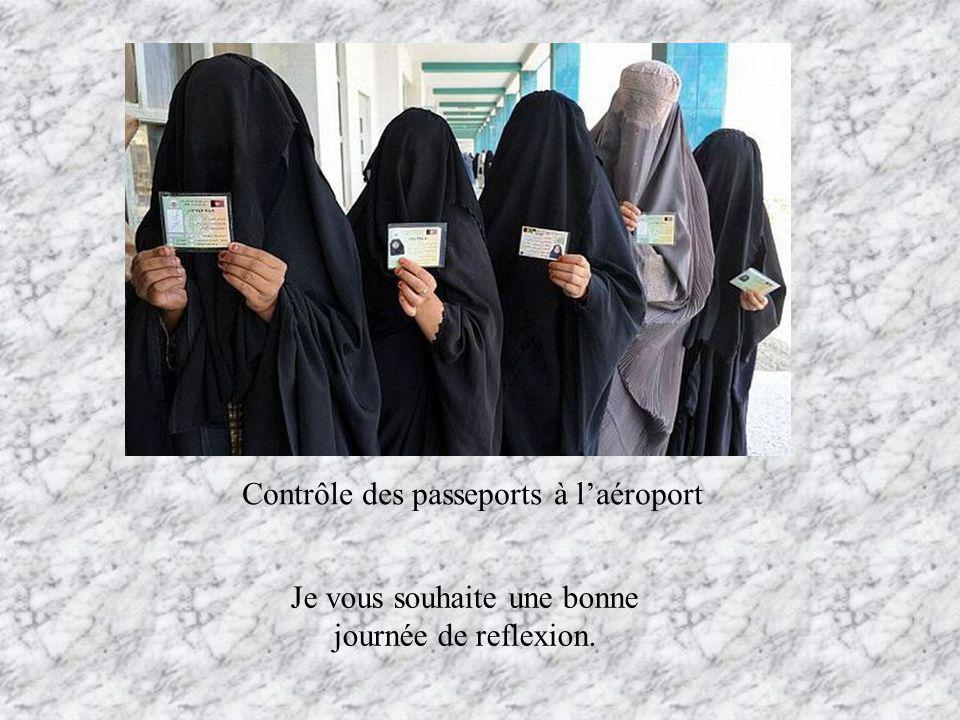 Contrôle des passeports à l'aéroport