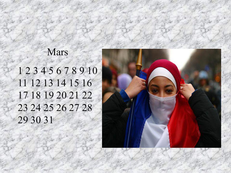 Mars 1 2 3 4 5 6 7 8 9 10 11 12 13 14 15 16 17 18 19 20 21 22 23 24 25 26 27 28 29 30 31. N4oubliez pas mon anniversaire le 9 RT.