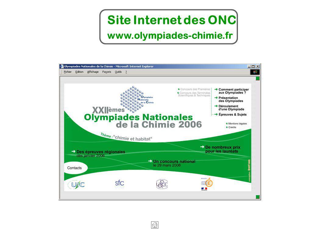 Site Internet des ONC www.olympiades-chimie.fr