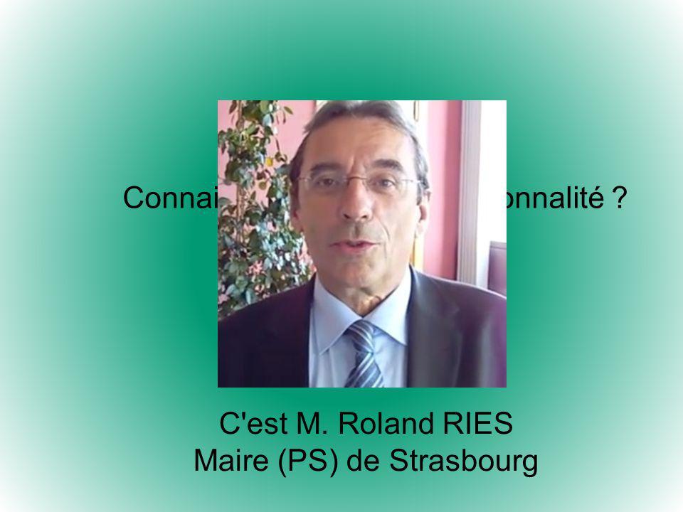 Maire (PS) de Strasbourg