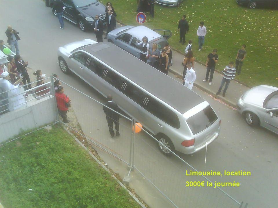 Limousine, location 3000€ la journée