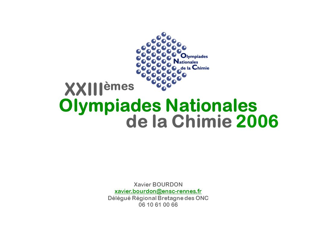 Olympiades Nationales