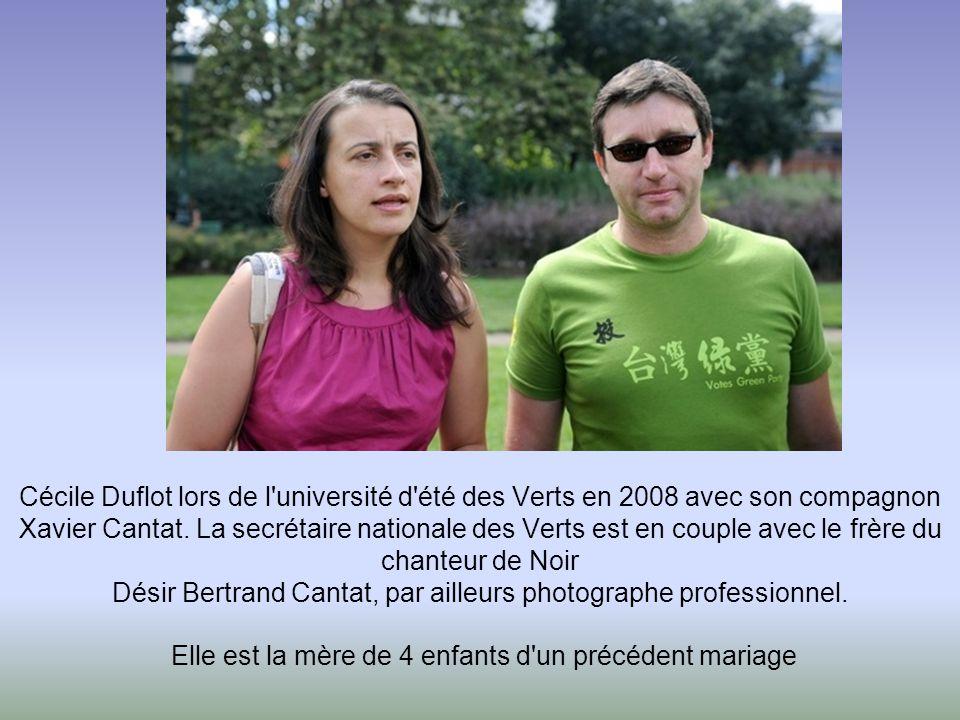 Cécile Duflot lors de l université d été des Verts en 2008 avec son compagnon Xavier Cantat.