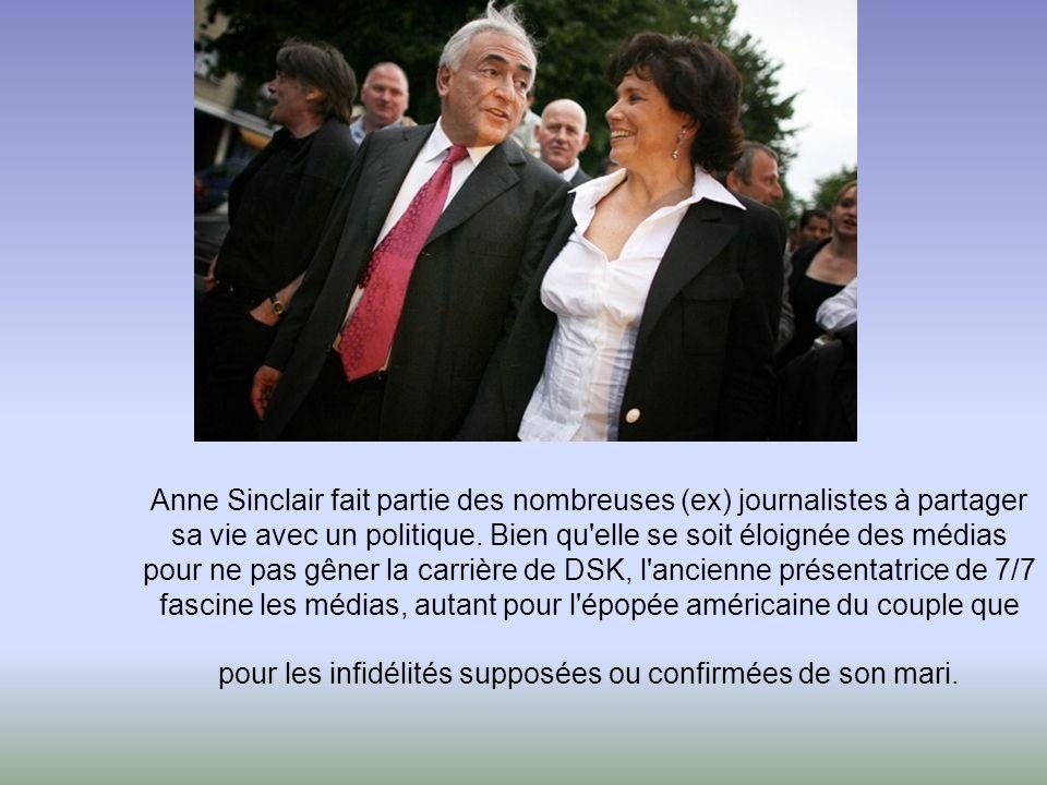 Anne Sinclair fait partie des nombreuses (ex) journalistes à partager sa vie avec un politique.