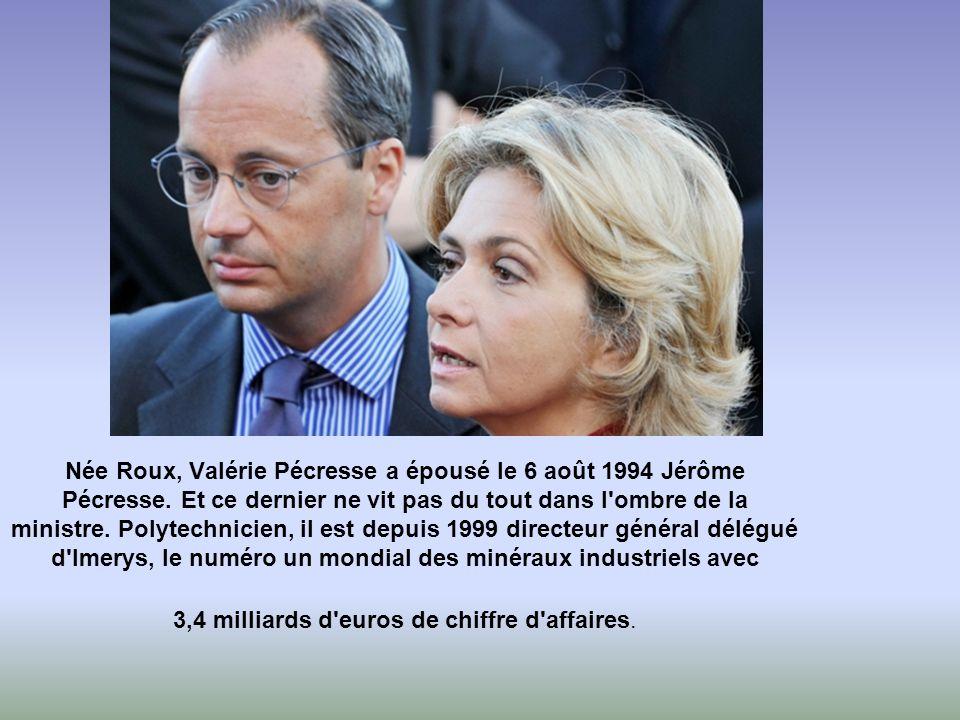 Née Roux, Valérie Pécresse a épousé le 6 août 1994 Jérôme Pécresse