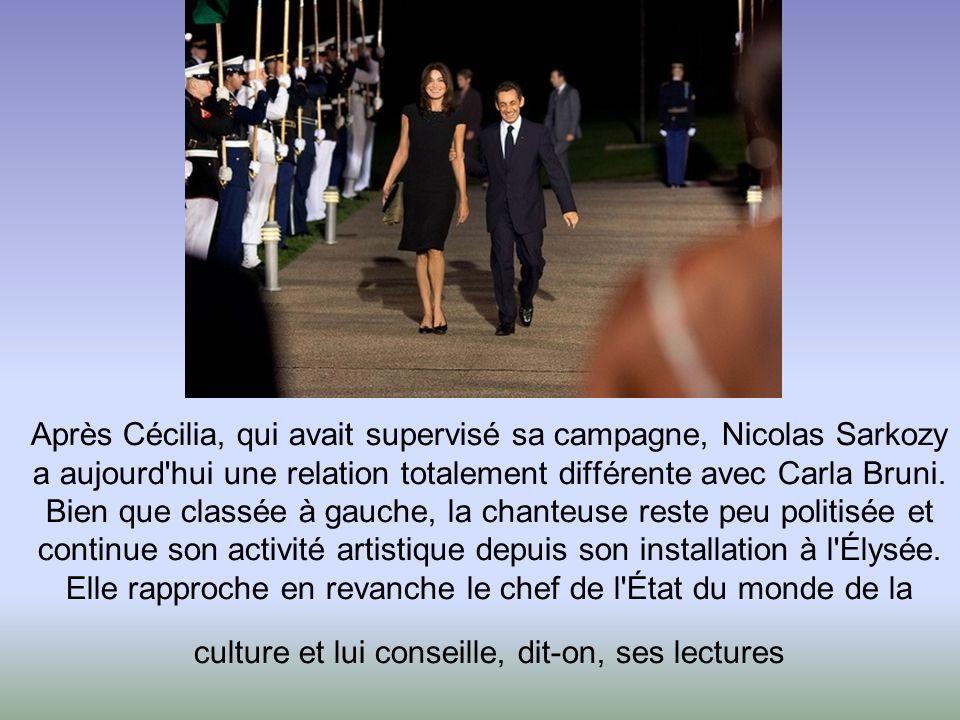 Après Cécilia, qui avait supervisé sa campagne, Nicolas Sarkozy a aujourd hui une relation totalement différente avec Carla Bruni.