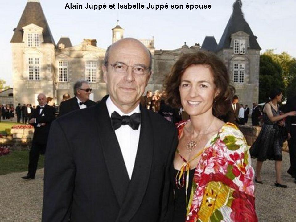 Alain Juppé et Isabelle Juppé son épouse