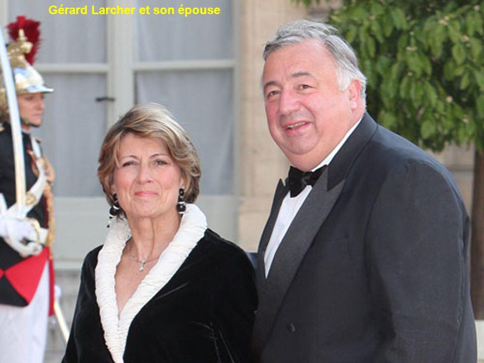Gérard Larcher et son épouse