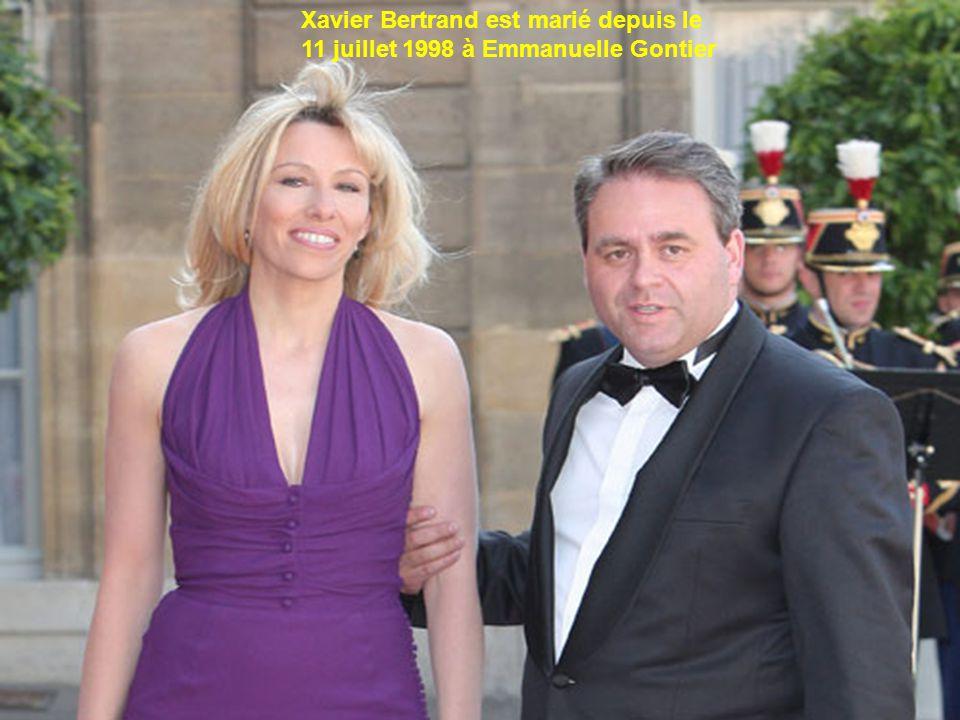 Xavier Bertrand est marié depuis le 11 juillet 1998 à Emmanuelle Gontier