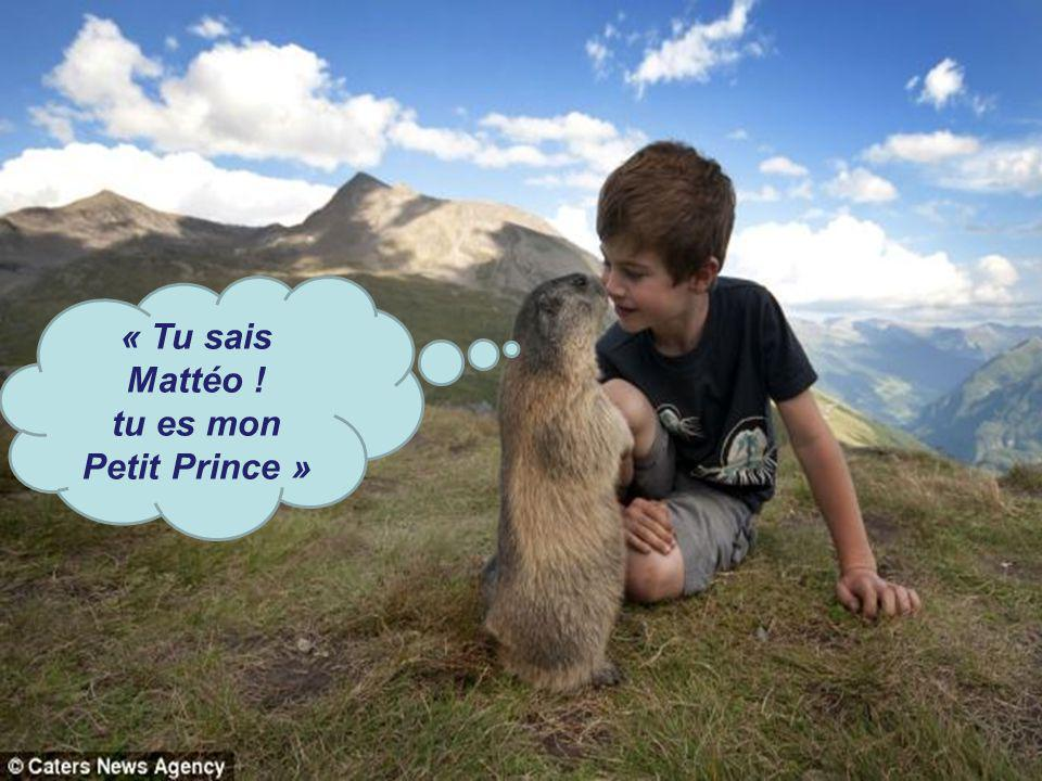 « Tu sais Mattéo ! tu es mon Petit Prince »