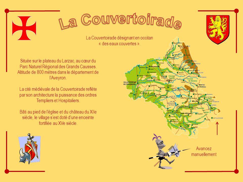 La Couvertoirade désignant en occitan