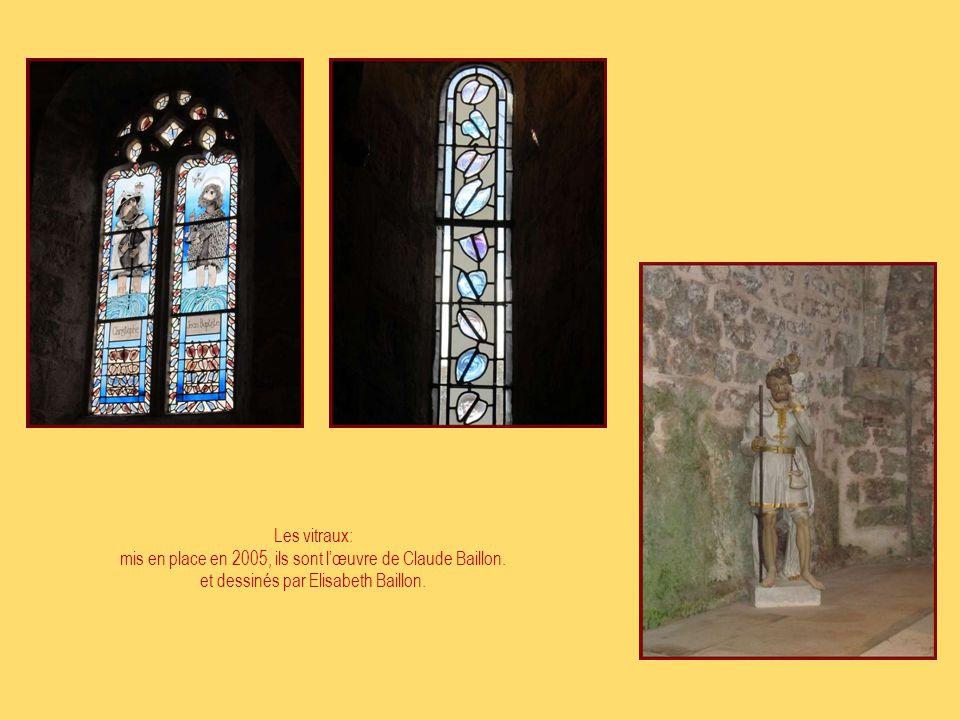 mis en place en 2005, ils sont l'œuvre de Claude Baillon.