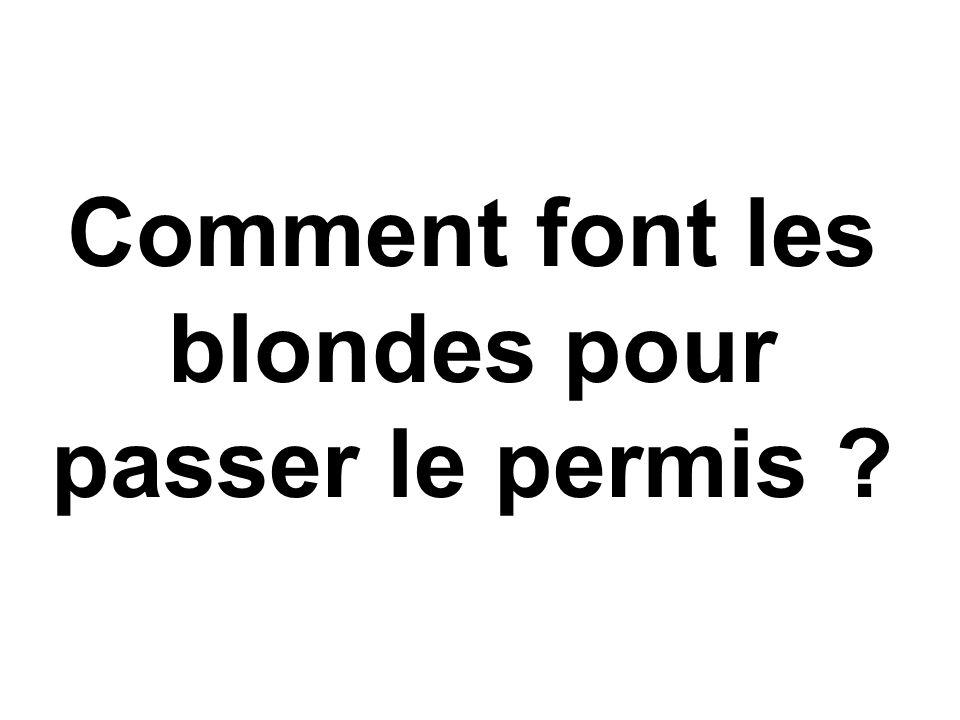 Comment font les blondes pour passer le permis
