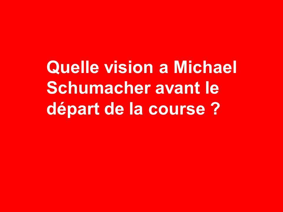 Quelle vision a Michael Schumacher avant le départ de la course