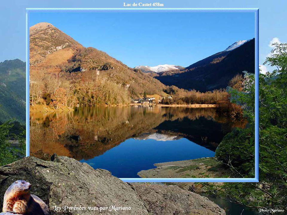 Lac de Castet 458m .