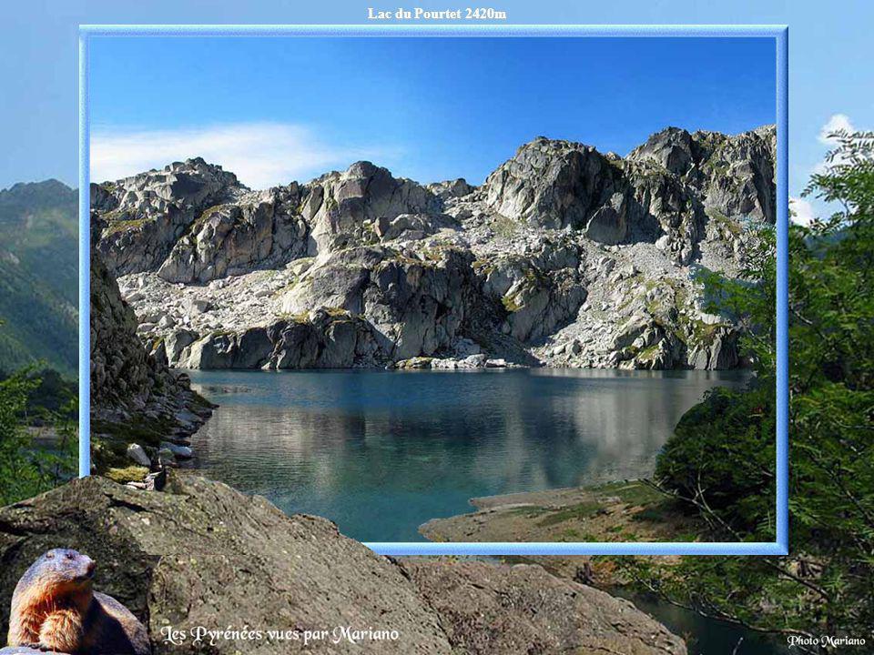 Lac du Pourtet 2420m .