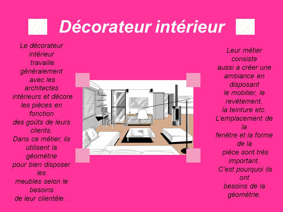 Metier Decorateur Interieur Perfect Quels Sont Les