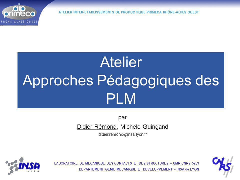 Atelier Approches Pédagogiques des PLM