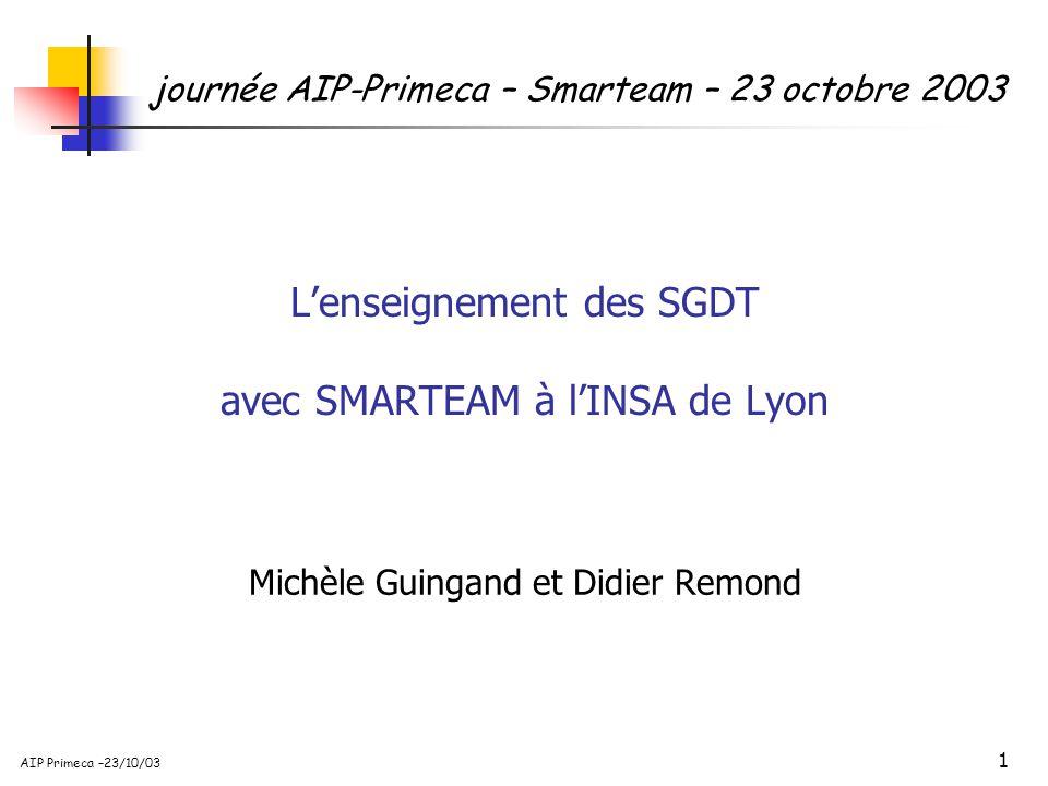 L'enseignement des SGDT avec SMARTEAM à l'INSA de Lyon