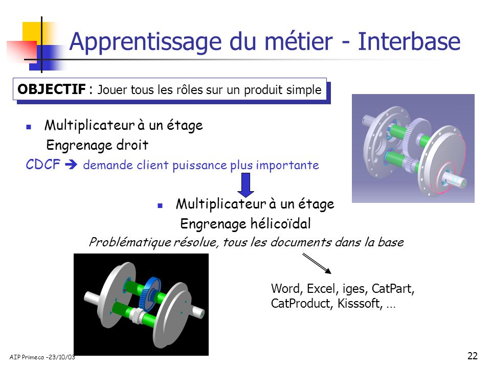 Apprentissage du métier - Interbase