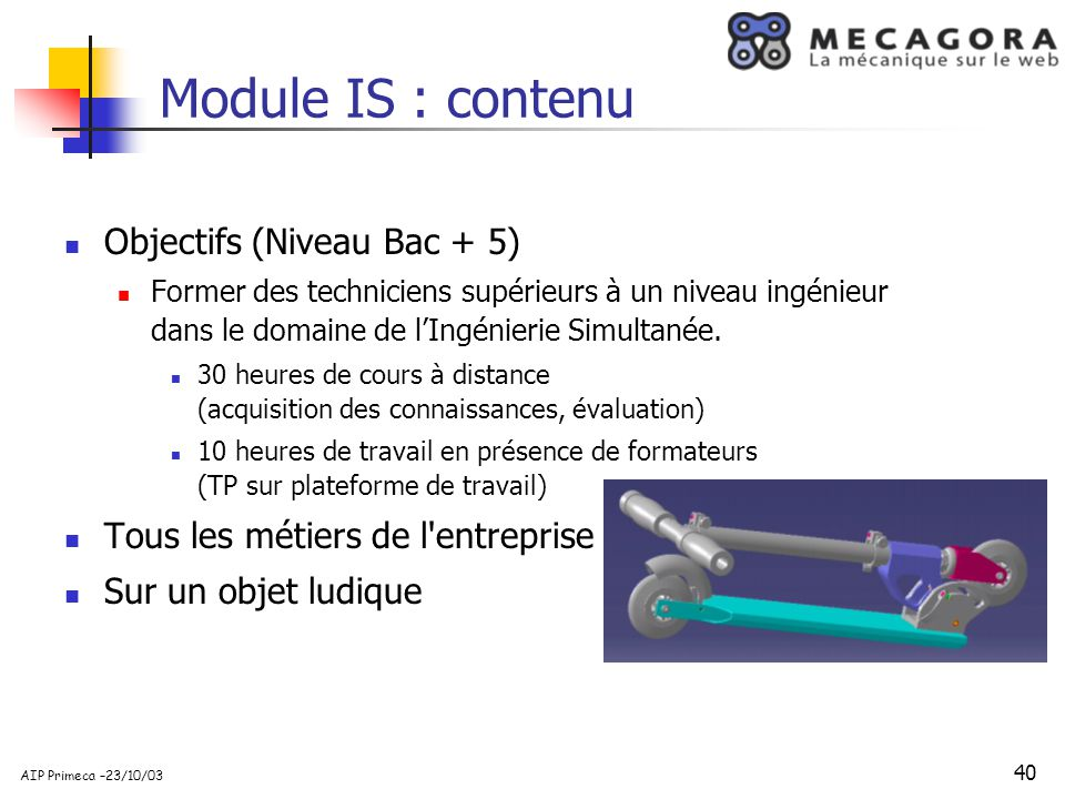 Module IS : contenu Objectifs (Niveau Bac + 5)