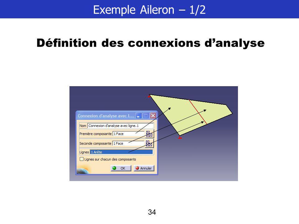 Définition des connexions d'analyse