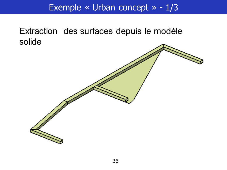 Exemple « Urban concept » - 1/3