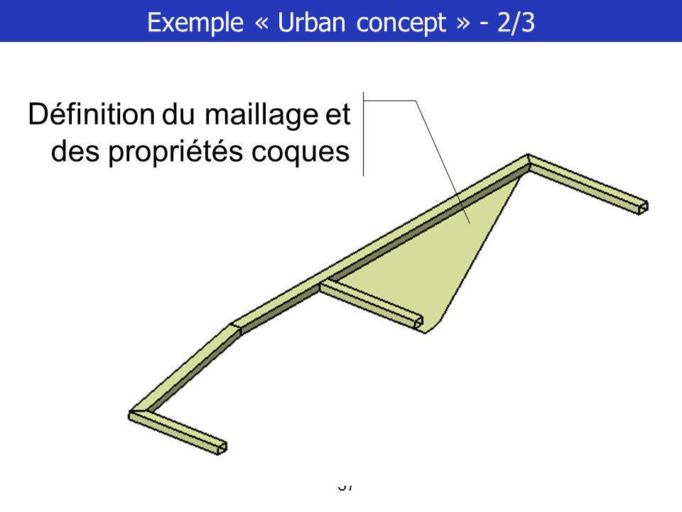 Exemple « Urban concept » - 2/3