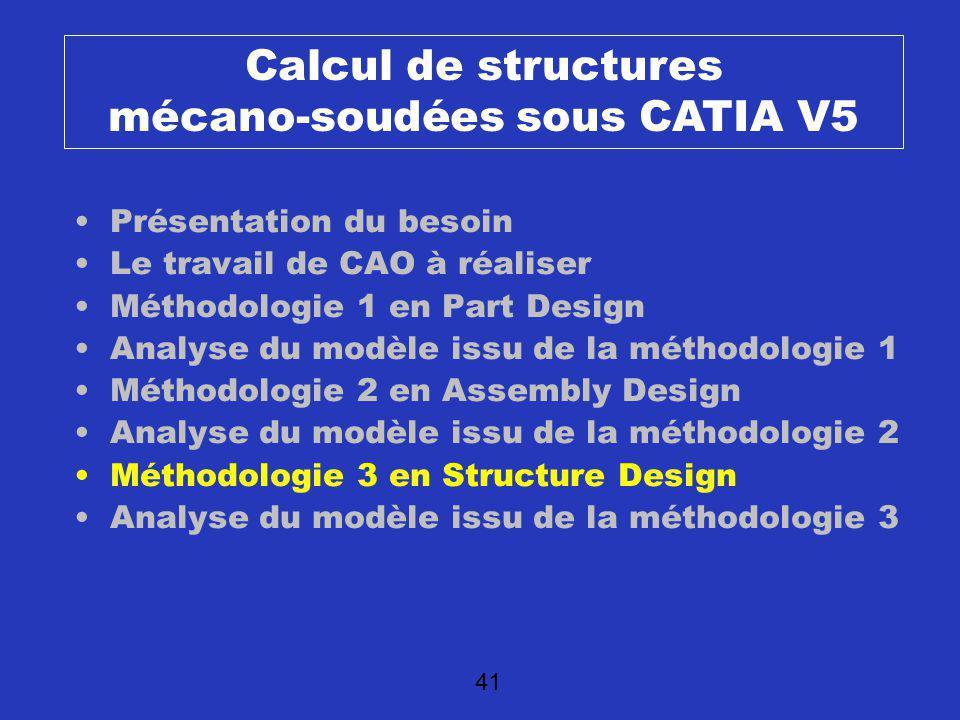 Calcul de structures mécano-soudées sous CATIA V5