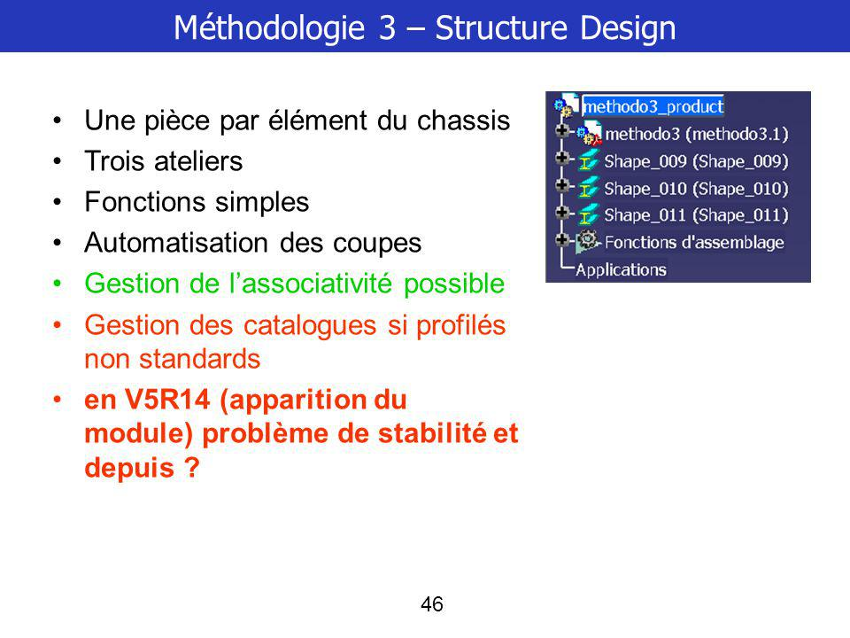 Méthodologie 3 – Structure Design