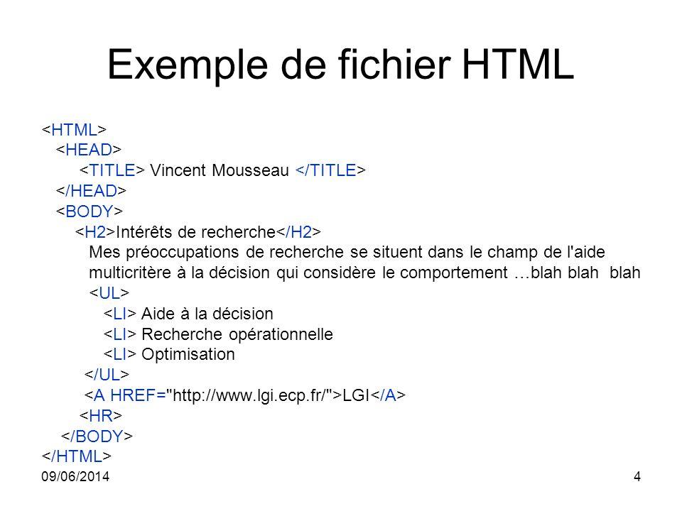 Exemple de fichier HTML