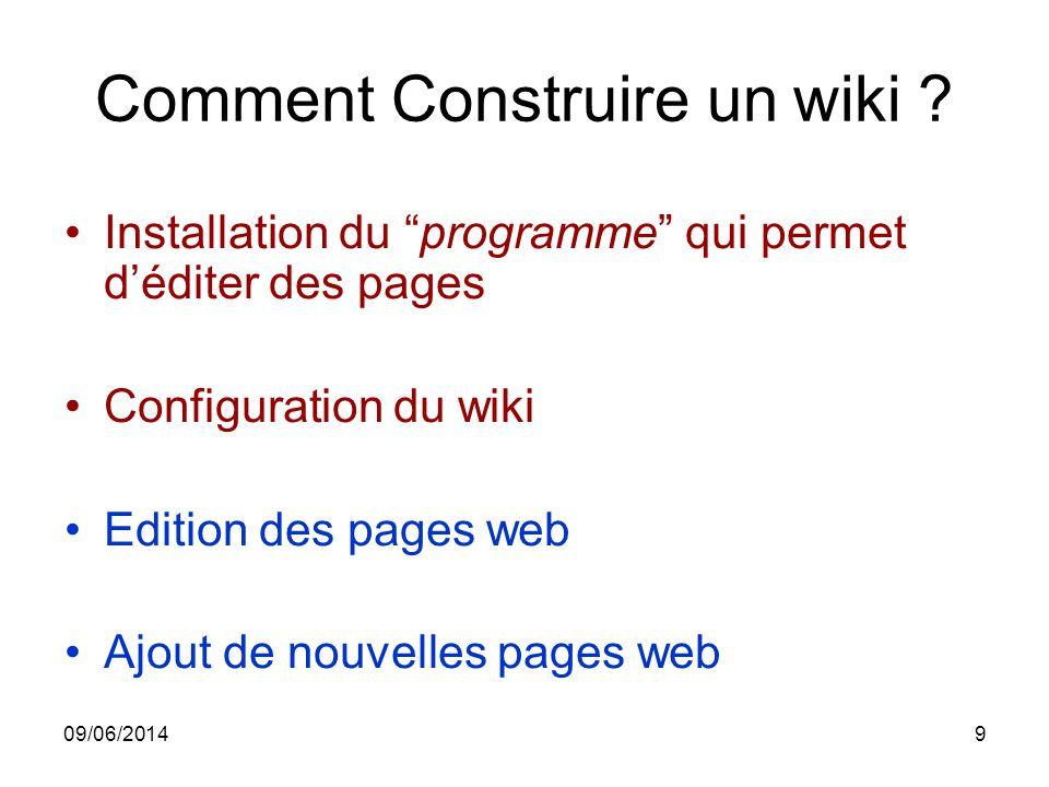 Comment Construire un wiki