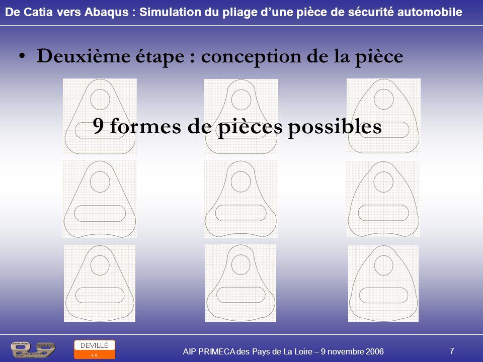 9 formes de pièces possibles