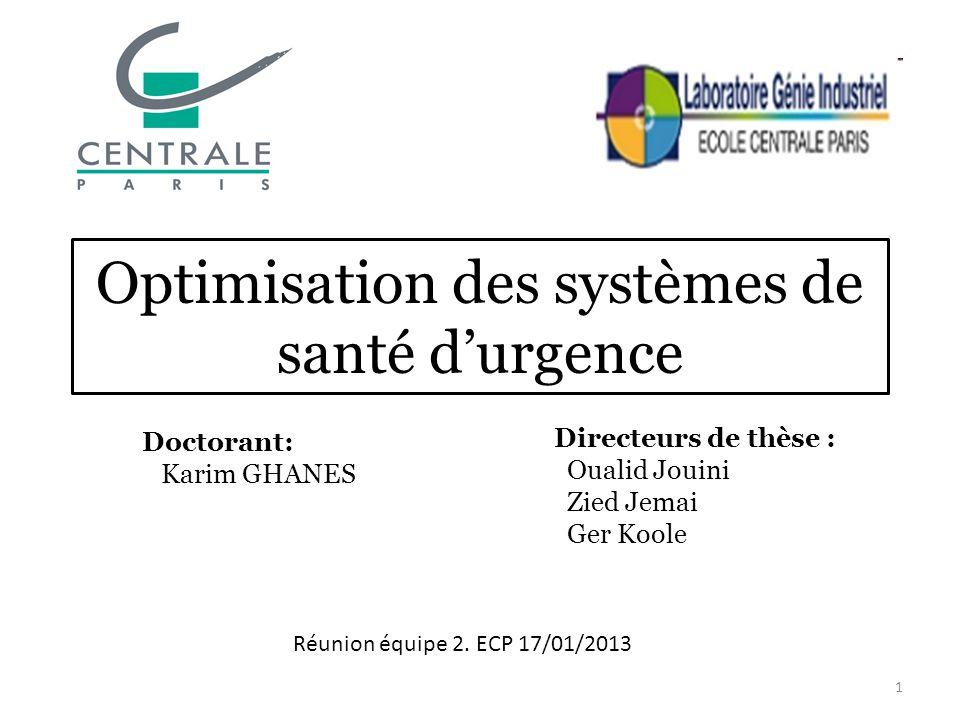 Optimisation des systèmes de santé d'urgence