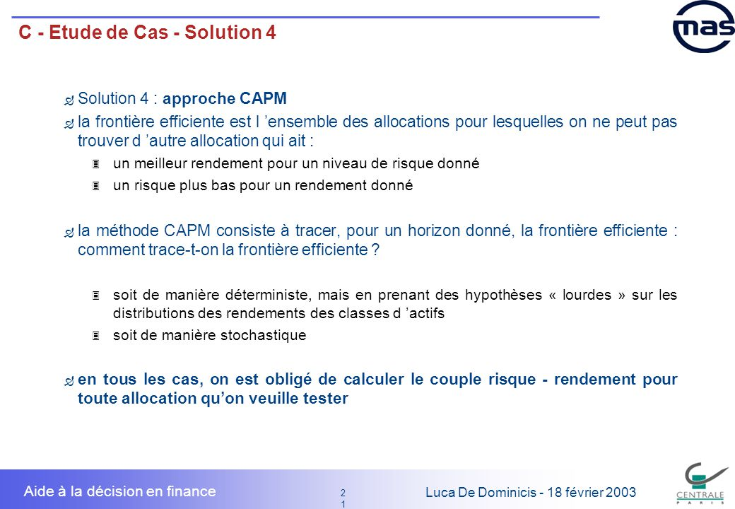 C - Etude de Cas - Solution 4