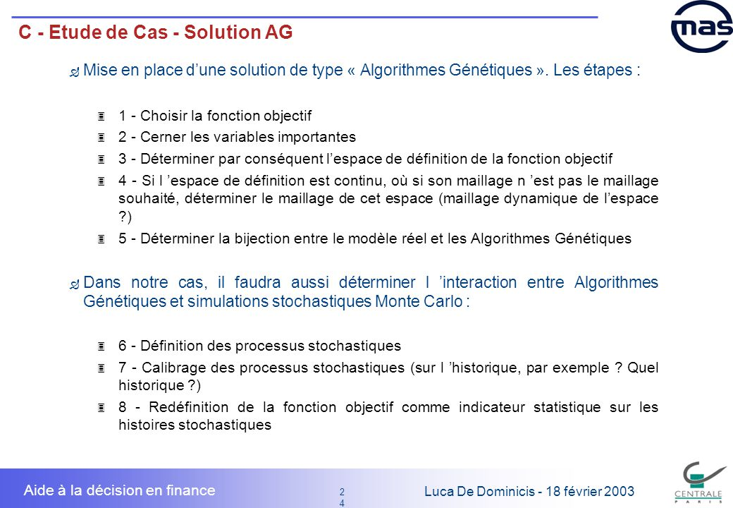 C - Etude de Cas - Solution AG
