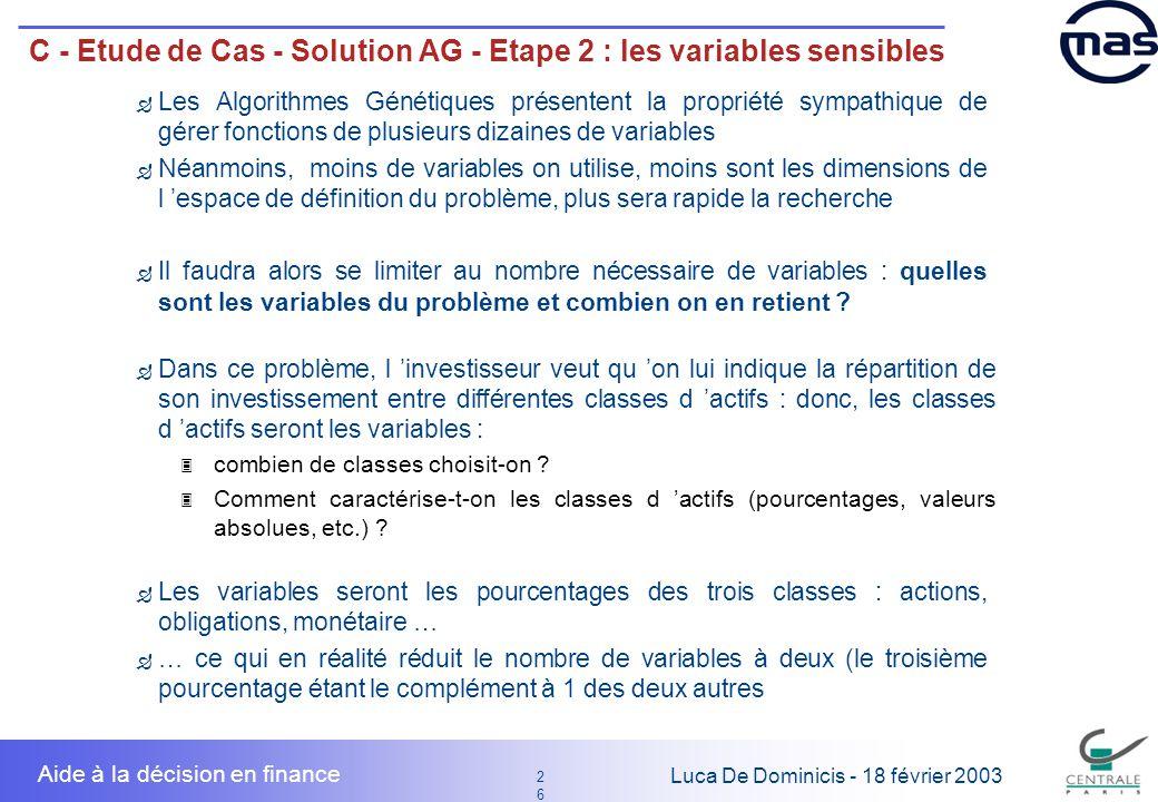 C - Etude de Cas - Solution AG - Etape 2 : les variables sensibles