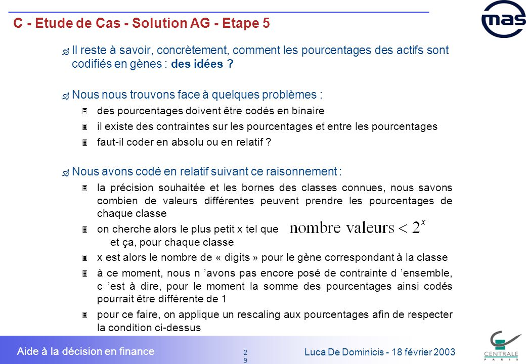 C - Etude de Cas - Solution AG - Etape 5