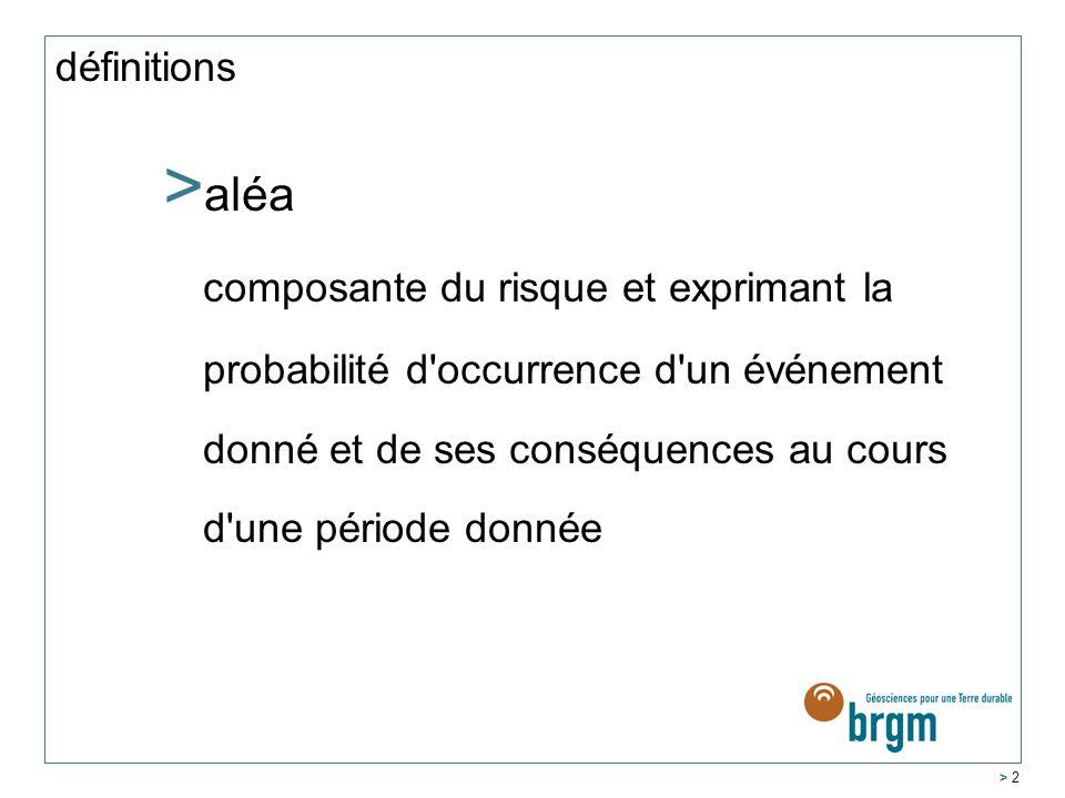 définitions aléa.