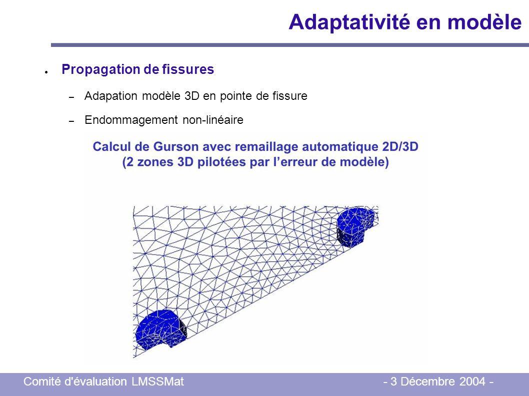 Adaptativité en modèle