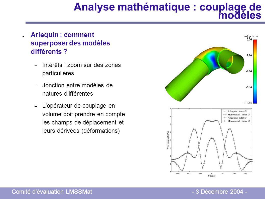 Analyse mathématique : couplage de modèles