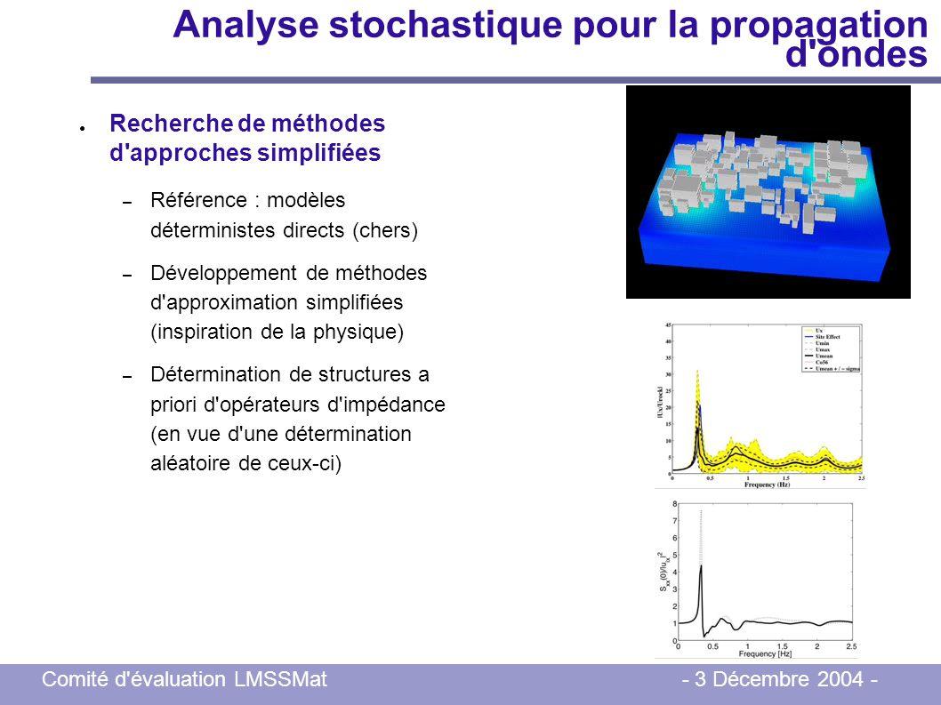 Analyse stochastique pour la propagation d ondes