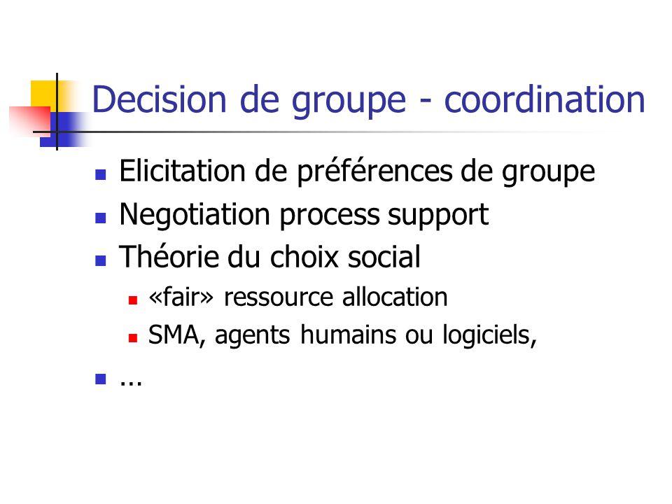 Decision de groupe - coordination