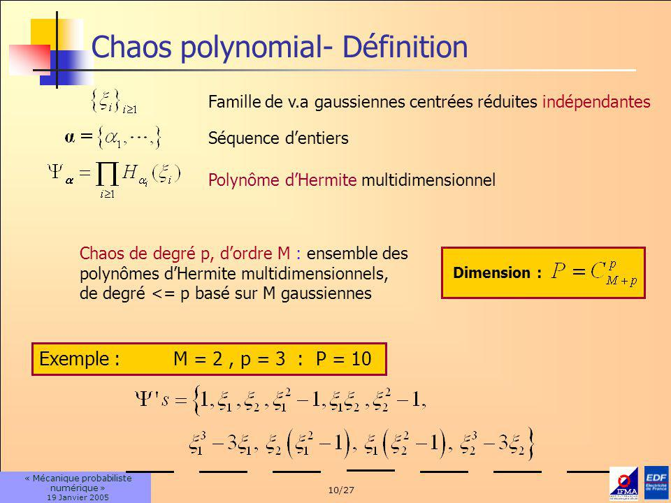 Chaos polynomial- Définition