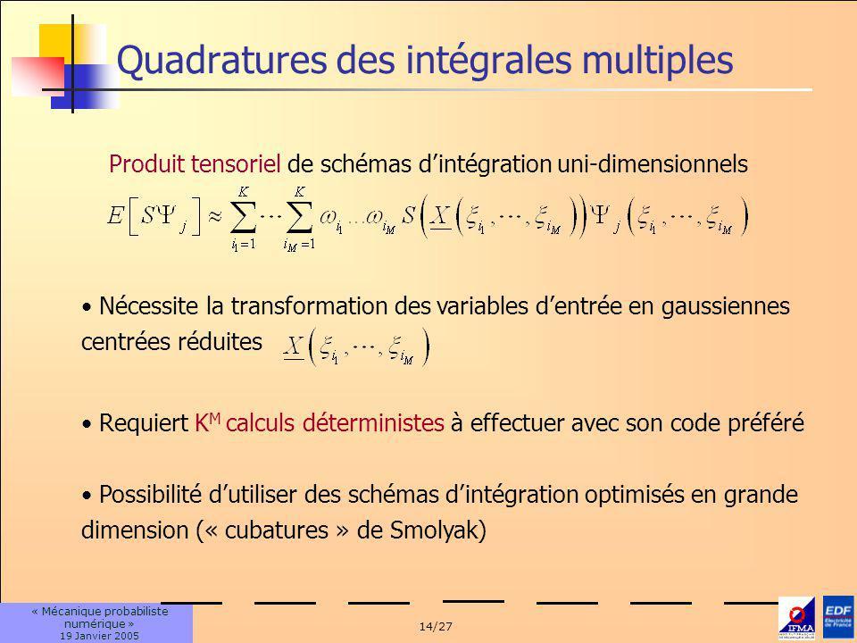 Quadratures des intégrales multiples