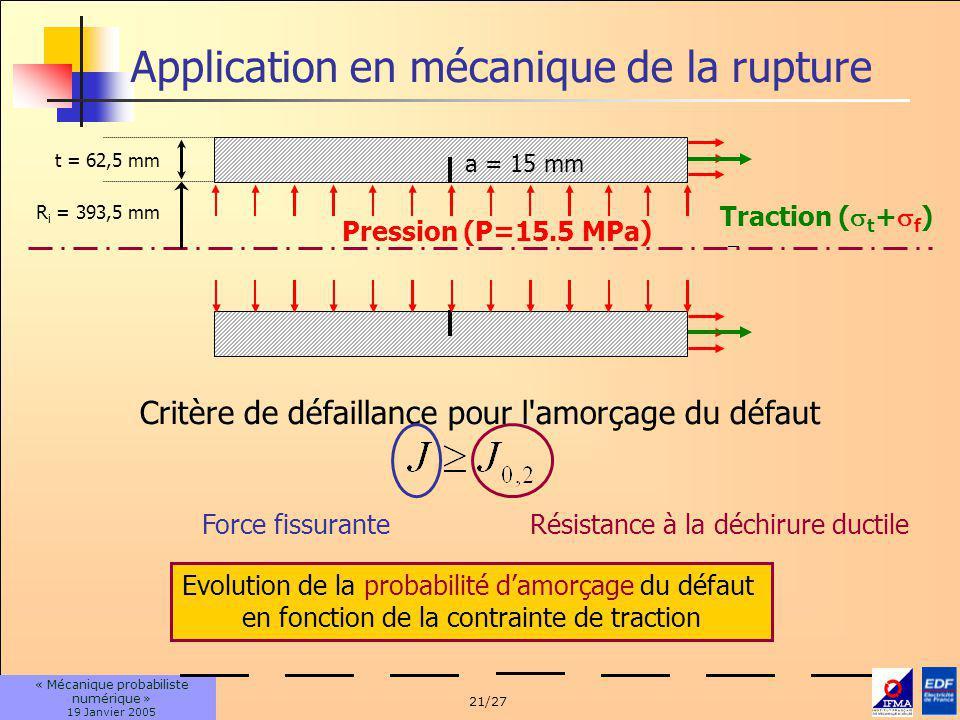 Application en mécanique de la rupture
