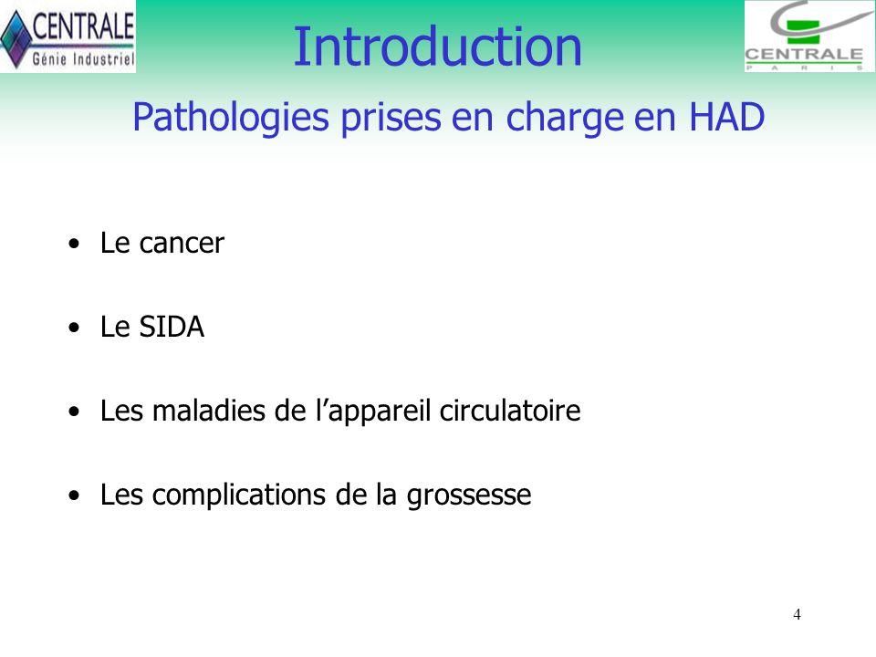 Pathologies prises en charge en HAD