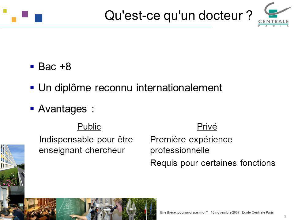 Qu est-ce qu un docteur Bac +8 Un diplôme reconnu internationalement